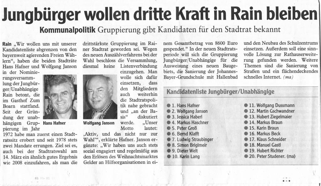 JBU-Zeitungsbericht vom 20131203
